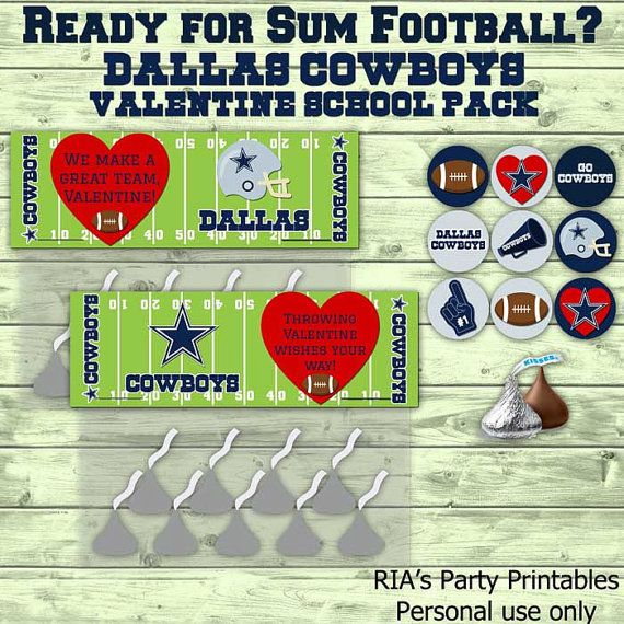 Dallas Cowboys Valentine School Pack By