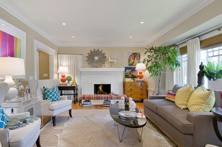 Living Room – Magenta & Citron