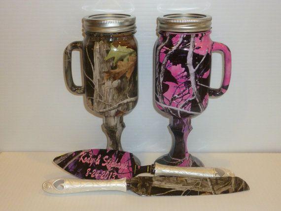 Mason Jar Wedding Camo Beer Mugs And Personalized Wedding