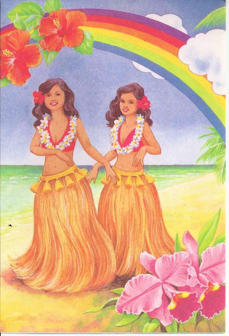 Vintage Note Card From Coral Cards Honolulu Hawaii Hula Dancers Abba Heaven Pinterest