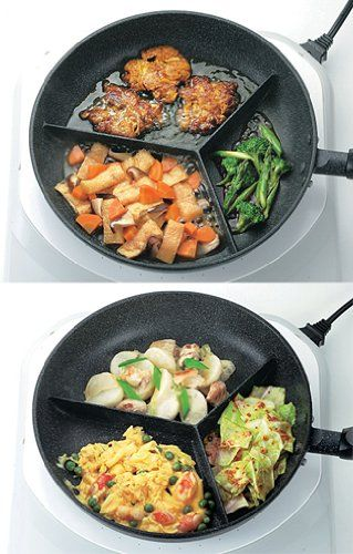 Sectioned fry pan... yes please! NEED this divided skillet! #product_design