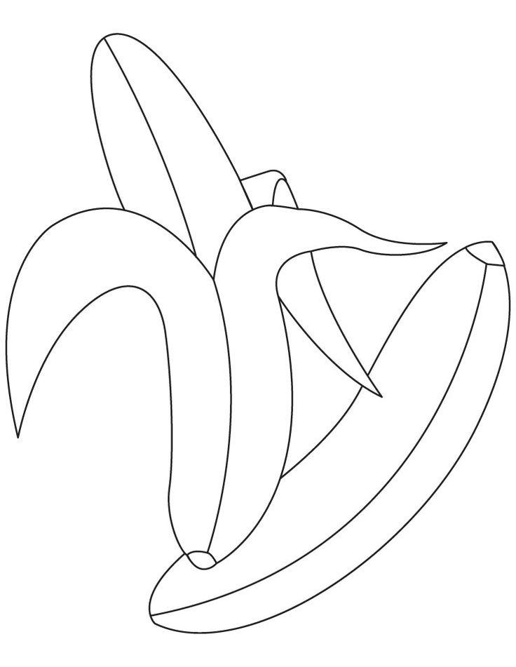 peeled bananas coloring pages  imprimibles  pinterest