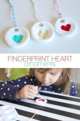 Fingerprint Heart Ornaments | Mama.Papa.Bubba.: