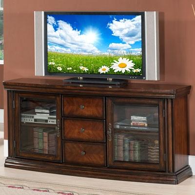 60 Ash Burl Parquet Media TV Stand At Big Lots Local