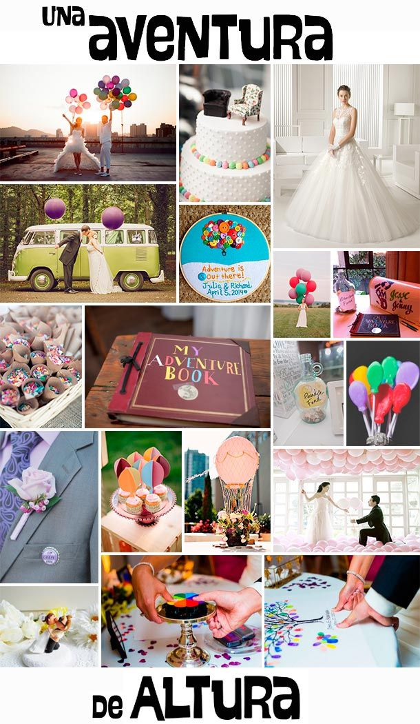 Una aventura de altura. Tu boda inspiración Up Disney Pixar: