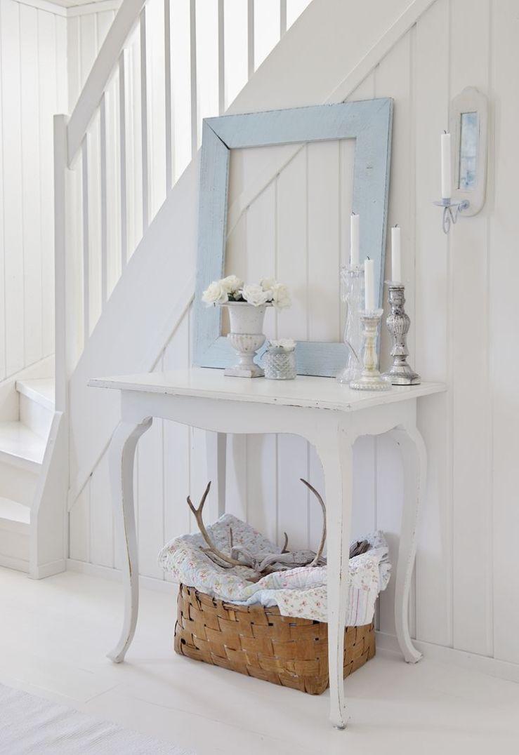 Entrada en blanco y azul