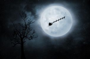 Full moon at Christmas