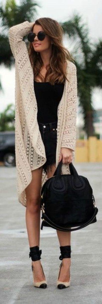 Long crochet cardigan: