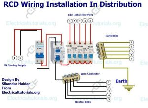 RCD Wiring Installation In Single Phase Distribution Board | Electrical Tutorials | Pinterest