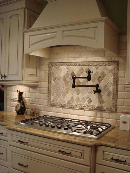 Stove Faucet Backsplash Contrast Custom Cabinets House Amp Home Pinterest Stove Custom