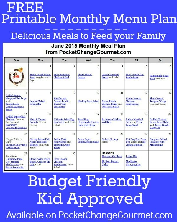 Delicious meals to feed your family in the June Monthly ...