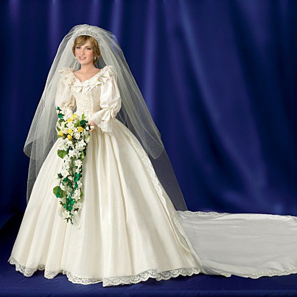 16 Inch Handcrafted Bisque Porcelain Bride Doll Honors