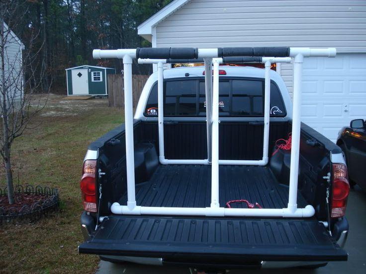 homemade kayak rack truck bed