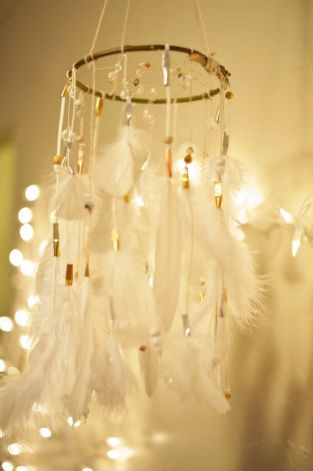 Wedding Dreamcatcher/Dreamcatcher Mobile by TheBigSkyPlace on Etsy, $105.00: