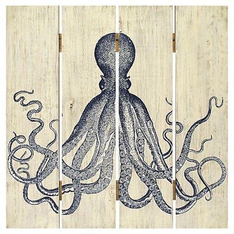 Plank Art Octopus Home Decor Wall Decor From Target