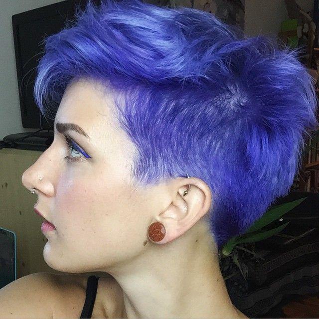 25 Best Ideas About Short Purple Hair On Pinterest