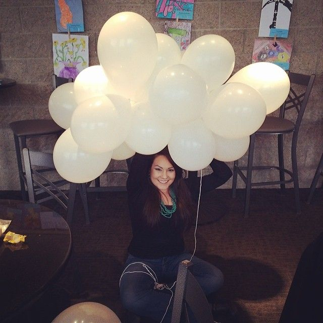 Making Balloon Clouds To Hang On The Stage For A Work