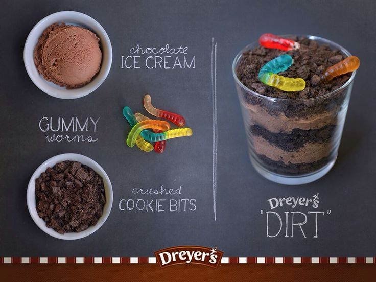 Dreyer S Dirt Recipe Chocolate Ice Cream Gummy Worms
