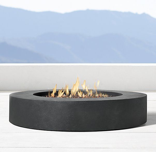 Topanga Natural Gas Round Fire Table Outside Pinterest