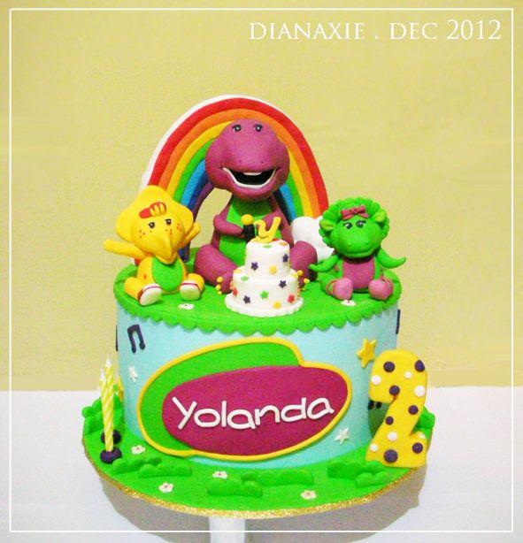 Barnie Cakes Friends 3d