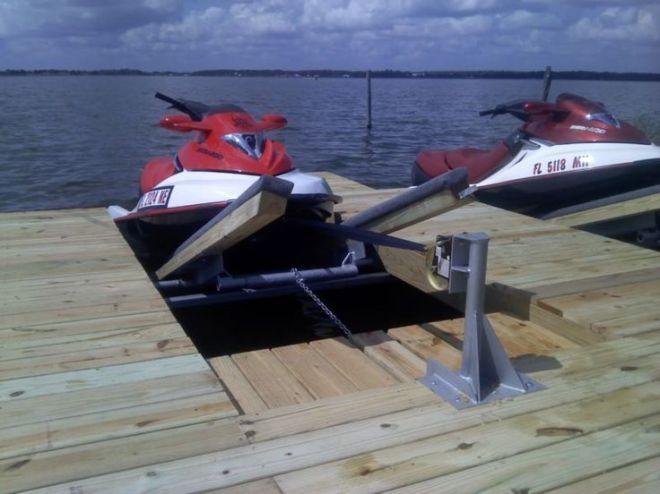 Diy double pwc dock kit floating boat dock with swim