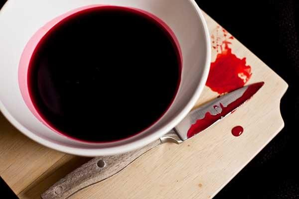 Edible blood is the perfect way to make all of your Halloween desserts look gros