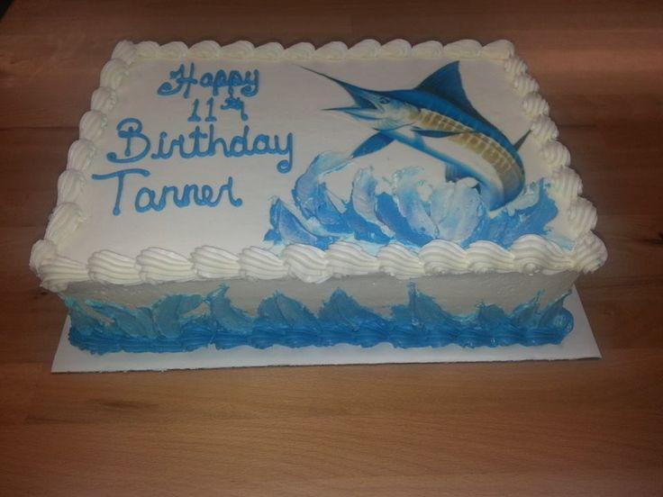 Marlin Birthday Cake Birthday Cakes Pinterest