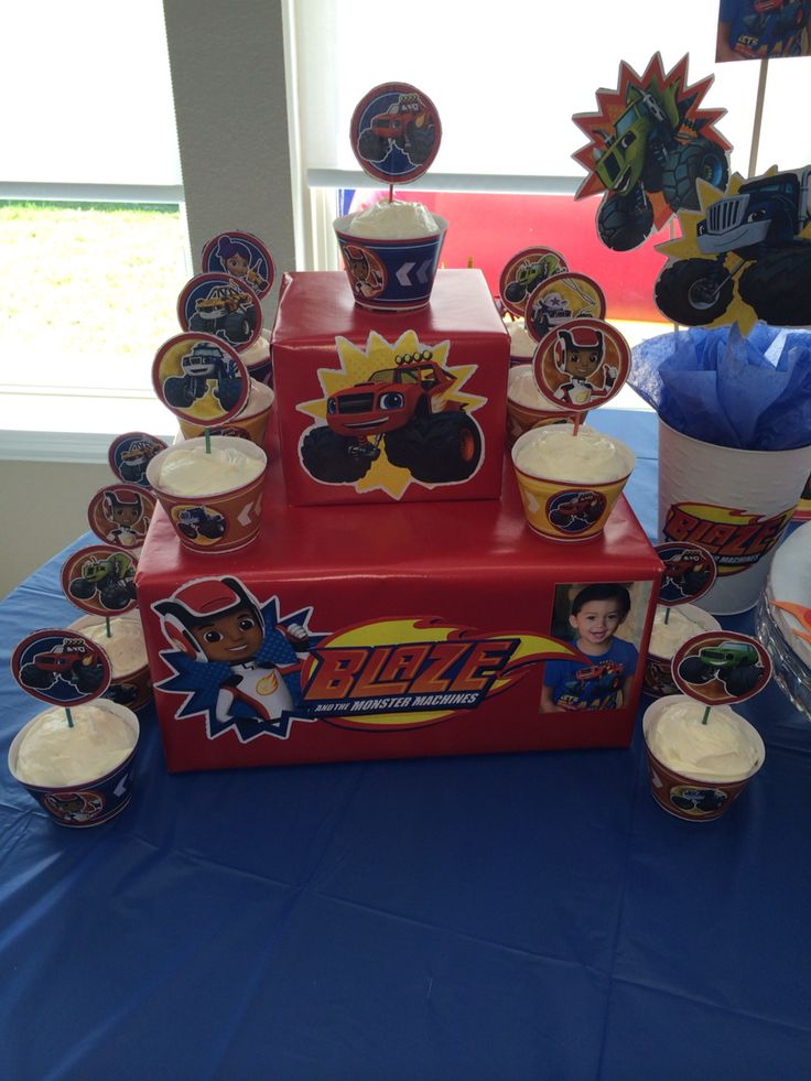 Blaze And Monster Machines Cupcake Stand Parties