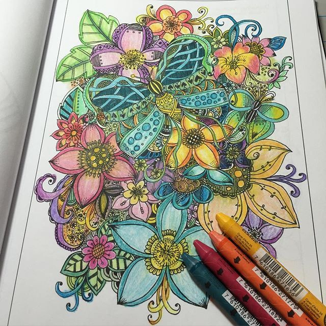 95 Best Images About Adult Coloring Pages Completed