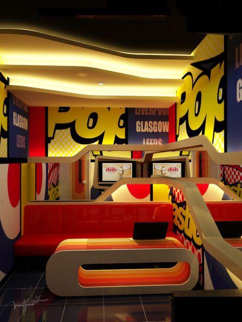 Karaoke Room Pop Art Concept Interior Designs
