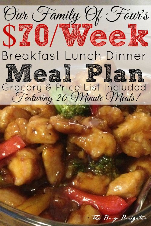 A complete meal plan to fee