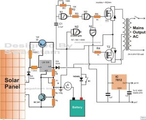 Solar Charge Controller Circuit Diagram | Homemade Circuit