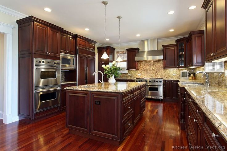 like the colors of these cabinets and granite – awesome kitchen decor
