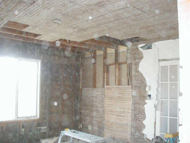Removing Lathe And Plaster, Insulating, Drywalling