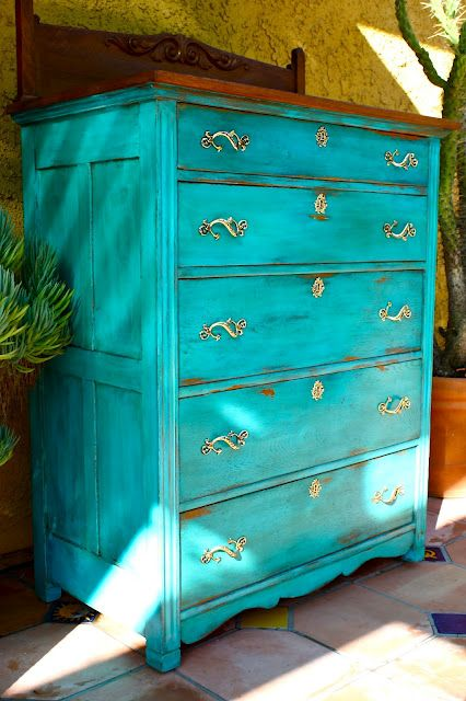 17 Best Ideas About Teal Painted Furniture On Pinterest