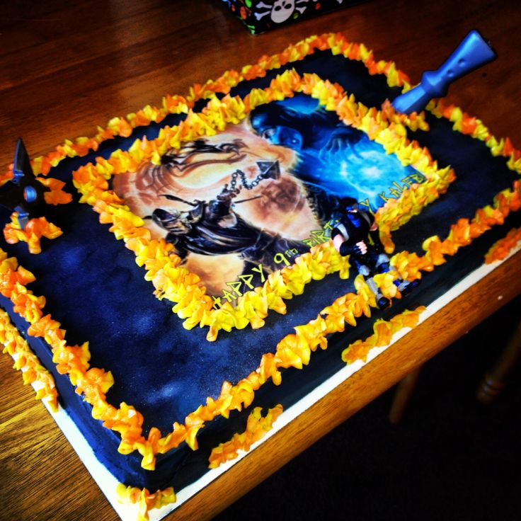 17 Best Images About Mortal Kombat Cake On Pinterest The Head Birthdays And Mortal Kombat Legacy