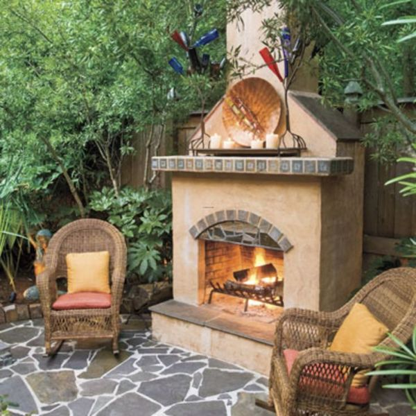 small outdoor patio fireplaces 17 Best images about yard on Pinterest   Front yards
