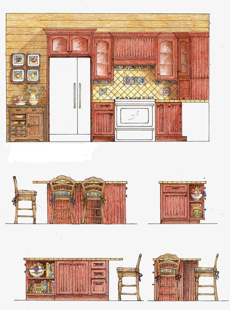 Kitchen Bath Design Presentation Drawing Plans Digital Rendering