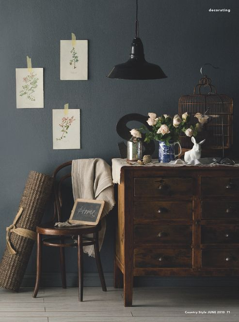 Bedroom Colors Someday Steel Grey Walls With Dark Wood And White