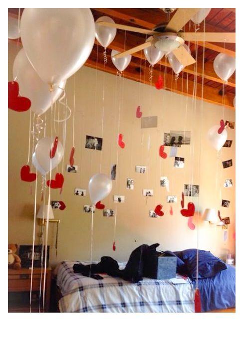 Ballon Decoration Surprise For Him Love Pinterest