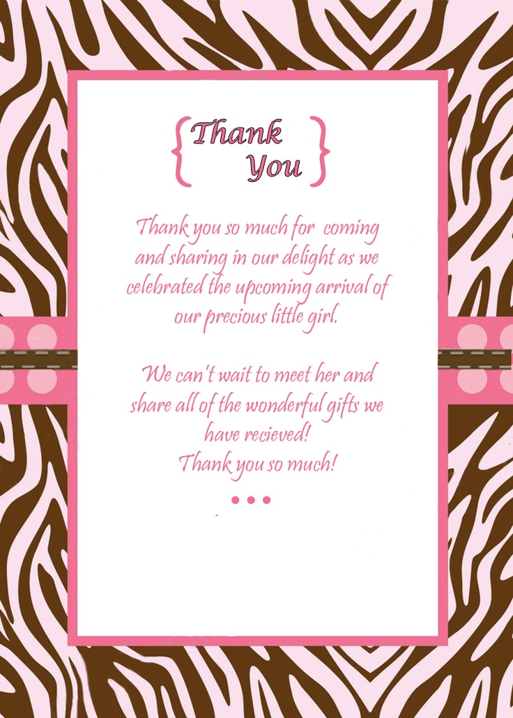 Baby shower thank you notes to match the invitations