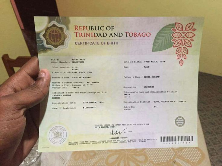 The New Trinidad And Tobago Birth Certificate Nice