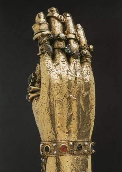 Finger Rings On The Hand Of The Arm Reliquary Of Saint