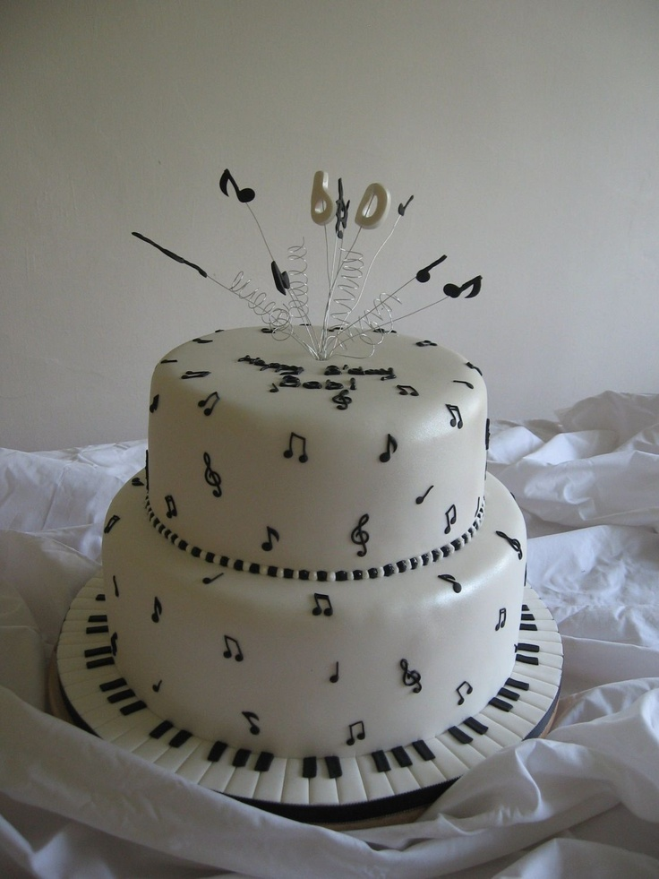 60th Music Themed Cake First A Big Thank You To