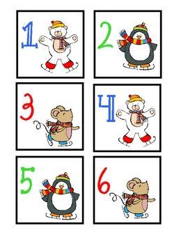 January Calendar Cards Free Preschool And Kindergarten