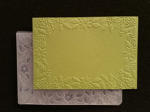Stampin UP Bough Amp Berries Embossing Folder New For