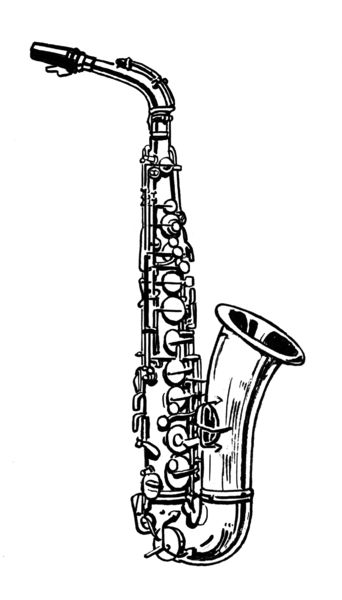 Saxophone Coloring Page Educational Coloring Pages