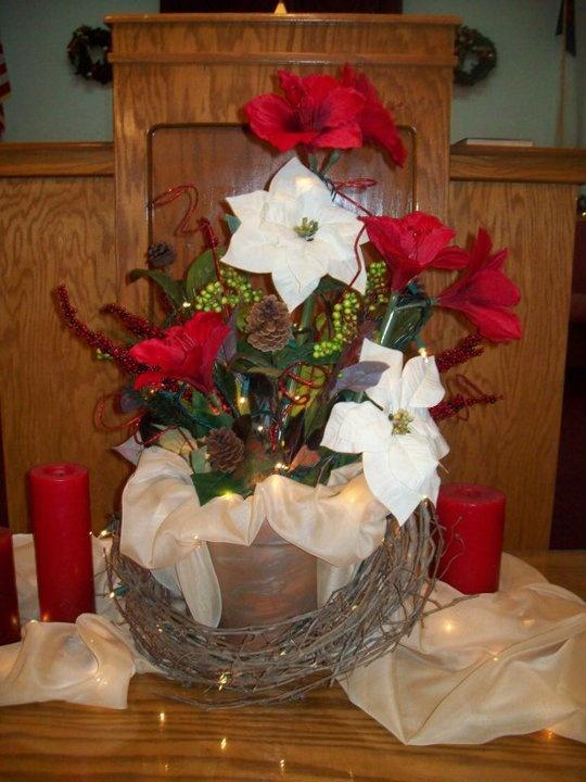 Christmas Communion Table Centerpiece Church Decor Pinterest Communion