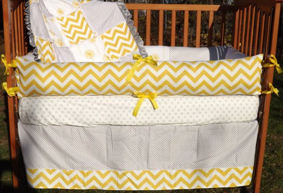 17 Best Images About Yellow And Gray Baby Bedding On