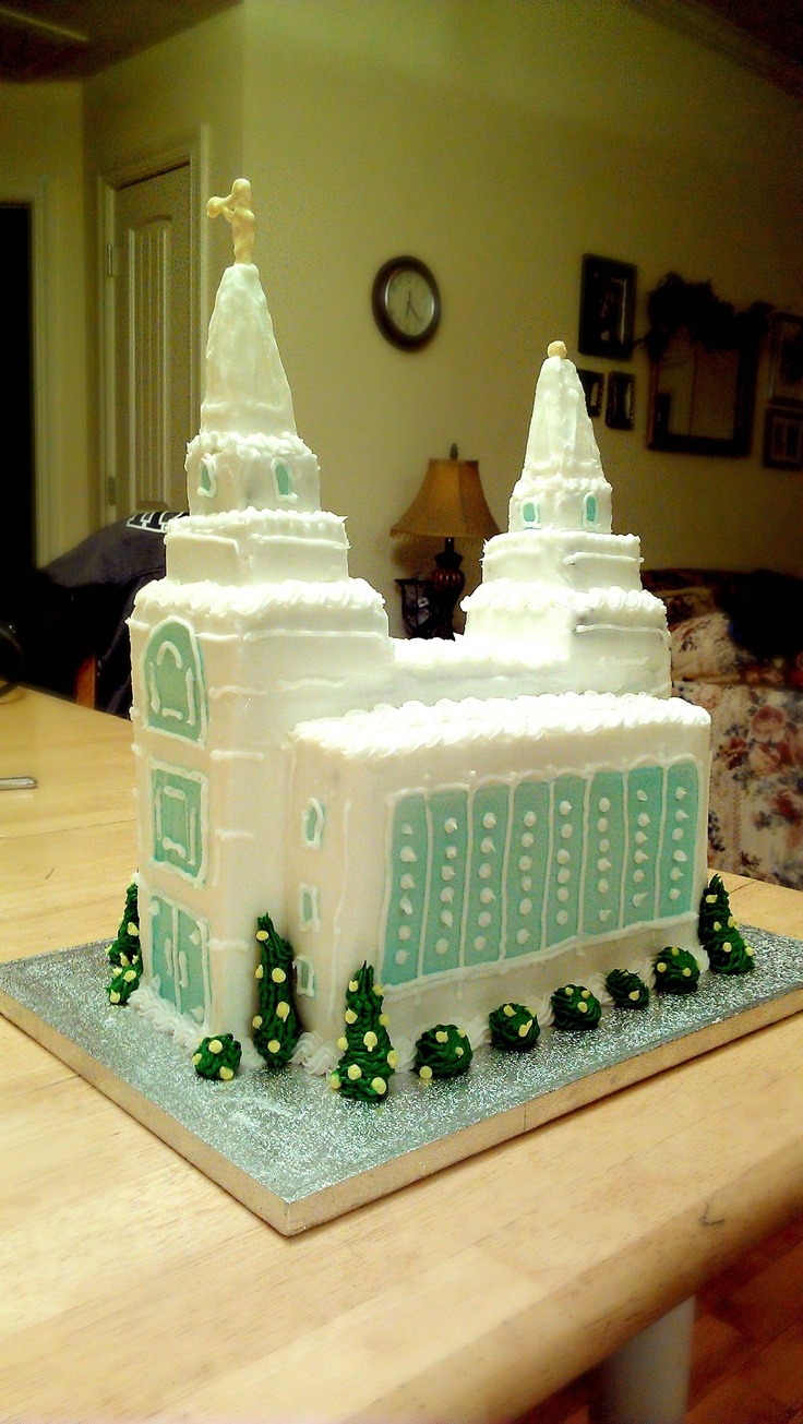 Lds Temple Cake Kansas City Mo My Cakes Pinterest
